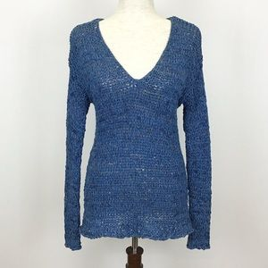 Sonoma Blue Loose Knit Sweater